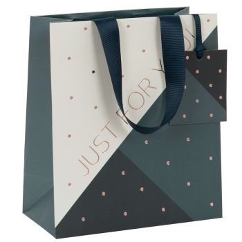 Geometric Just For You Gift Bag - MEDIUM Gift Bags - GIFT Bags For MEN - Medium CELEBRATORY Gift BAG - BIRTHDAY GIFT Bags - LUXURY GIFT BAG For HIM
