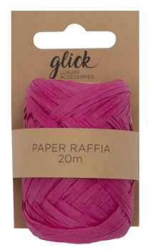 Paper Raffia Ribbon – HOT Pink 20M - RECYCLABLE & Biodegradable - GIFT Ribbons & ACCESSORIES – Paper RAFFIA & Twine