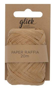 Paper Raffia Ribbon – KRAFT 20M - RECYCLABLE & Biodegradable - GIFT Ribbons & ACCESSORIES – Paper RAFFIA & Twine - BOHO Wedding DECOR