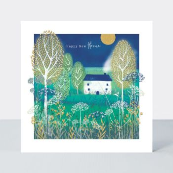 Happy New Home - CUTE COTTAGE New HOME Greeting CARD - NEW Home GREETING Cards - PRETTY New HOME Card - MOVING House GREETING Card