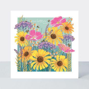Get Better Soon - GET Well CARDS - FLORAL Get WELL Card - PRETTY Sunflower GET Well CARD
