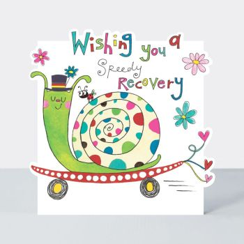 Funny Get Well Cards - WISHING You A SPEEDY Recovery - SNAIL On A SKATEBOARD Greeting CARD - Get WELL Cards - FUNNY Get WELL Cards AFTER SURGERY UK