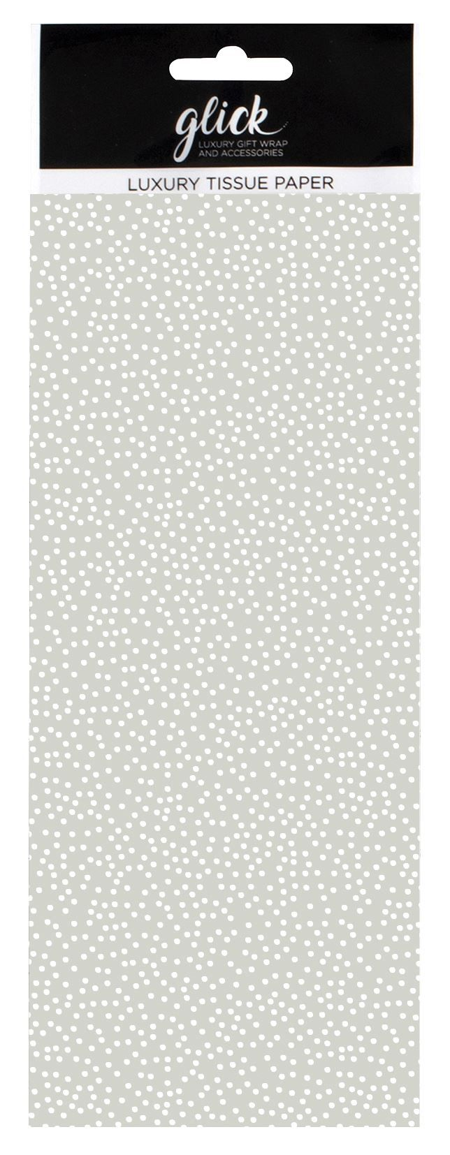 Grey & White Polka Dot Print Luxury Tissue Paper - Pack Of 4 LARGE Sheets -