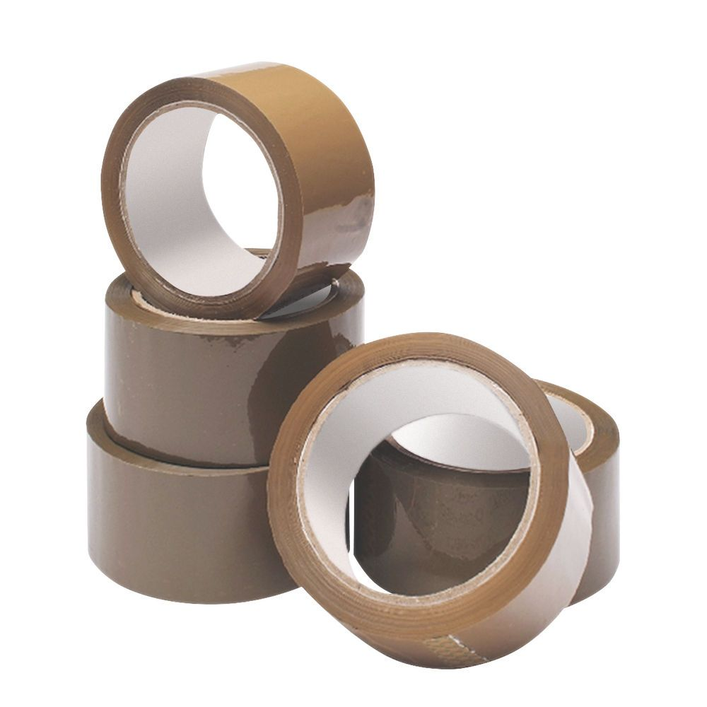 Brown Packing Tape - 48mm x 66M - PACK Of 3 - BROWN Parcel TAPE - Brown TAP