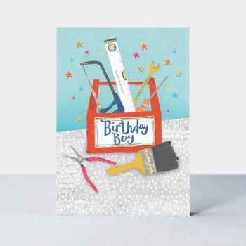 Birthday Boy - BIRTHDAY Cards For HIM - HANDYMAN Birthday CARDS - Toolbox BIRTHDAY Cards - BIRTHDAY Card FOR Friend - SON - Husband