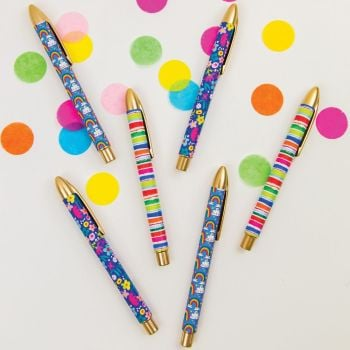 Rollerball Pens - COLOURFUL Rollerball PENS - PENS & Pencils - FUN Stationery - OFFICE Supplies - ROLLERBALL Pens AVAILABLE IN 3 DESIGNS