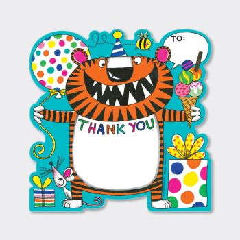 Set of 8 Tiger Thank You Cards - COLOURFUL Tiger Thank YOU Cards - CHILDRENS Thank YOU Cards - PARTY Thank YOU Cards - PARTY Stationery