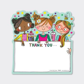 Set of 8 Best Friends Thank You Cards - COLOURFUL Party FRIENDS Thank YOU Cards - CHILDRENS Thank YOU Cards - PARTY Thank YOU Cards - PARTY Stationery