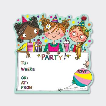 Fun Best Friends Party Invitations – PARTY Invitations – PACK Of 8 PARTY Invitations - GIRLS Birthday INVITATIONS - Kids PARTY Invitations - PARTY