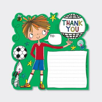 Set of 8 Football Thank You Cards - COOL DUDE Thank YOU Cards - CHILDRENS Thank YOU Cards - PARTY Thank YOU Cards - PARTY Stationery