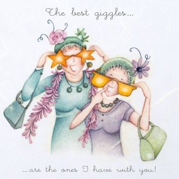 Fun Best Friend Birthday Card - THE Best GIGGLES - Birthday CARDS For FRIEND - Fun BEST Friend BIRTHDAY Card For - FRIEND - Mum - SISTER - Daughter