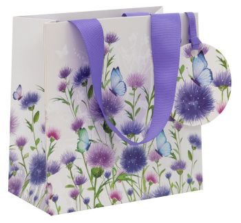 Beautiful Thistle Gift Bag - SMALL Gift BAGS - BIRTHDAY Gift BAGS - FLORAL Gift Bag - LUXURY GIFT Bags - SMALL Gift BAGS For HER