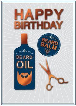 Beard Birthday Card - HAPPY BIRTHDAY - 3D Style BIRTHDAY Card FOR Him - BEARD Birthday CARD For DAD - Husband - Brother - FRIEND - Birthday CARDS