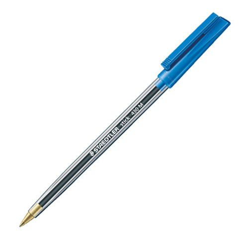 Blue Biro Pens - PACK Of 5 - Staedtler STICK PEN - Blue BALLPOINT Pens - BA