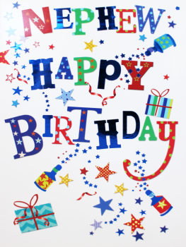 Poppers & Parcels Nephew Birthday Card - NEPHEW Happy BIRTHDAY - Birthday CARDS For NEPHEW - KIDS Birthday CARDS