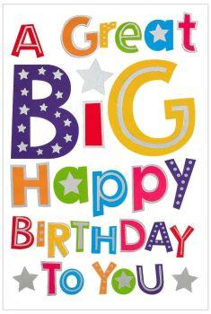 Kids Birthday Cards - BIRTHDAY Cards For CHILDREN - A GREAT Big HAPPY Birthday To YOU - Children's BIRTHDAY Cards ONLINE