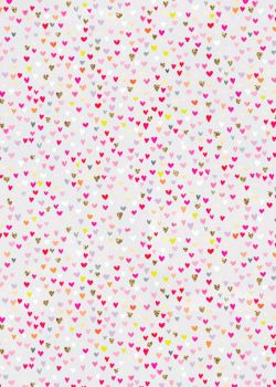 Pretty Heart Wrapping Paper Roll - 4 METRES - GIFT WRAPPING Paper - WRAPPING Paper ROLLS - LUXURY Gift WRAP - HEARTS On GREY - Cute GIFT Wrap