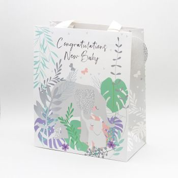 Large New Baby Gift Bags - CONGRATULATIONS New BABY - CONGRATULATIONS GIFT Bags - LARGE PORTRAIT GIFT Bags - Recyclable Bags - BABY SHOWER Gift BAGS