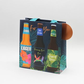 For You - BEER Gift BAG - MEDIUM Gift BAGS - Beer BOTTLE Gift BAGS - Gift & BOTTLE Bags With TAG - Beer GIFT Bag For PARTY - Birthday - BARBECUE