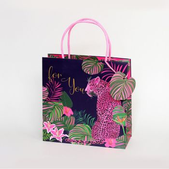 For You Medium Gift Bag - STUNNING Pink Leopard  Gift BAG For HER - Birthday GIFT Bags - MEDIUM GIFT Bags - BEAUTIFUL Gift BAG For FEMALE