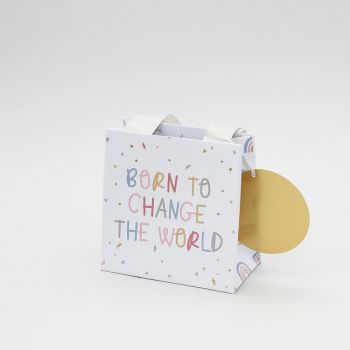 Born To Change The World - SMALL Gift BAG - New BABY Gift BAGS - CHIC Gift BAG For NEWBORN Baby - BABY Gift BAGS