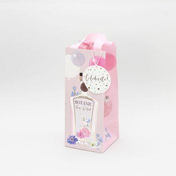 Gin O'Clock Pink Gift Bag - CELEBRATION Gift BAG - Gin GIFT Bag - WINE & Bottle GIFT Bags - BOTTLE Gift BAGS - PRETTY Birthday GIFT Bag FOR Her
