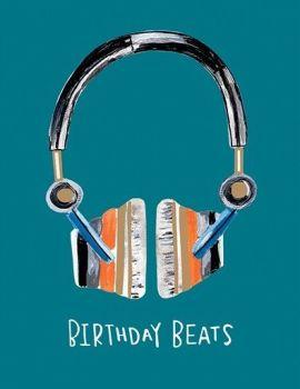 Birthday Boy Birthday Card -  Fun HEADPHONES BIRTHDAY CARD - BIRTHDAY BEATS Birthday CARD - KIDS Birthday CARDS - MUSIC Birthday CARD For SON - Nephew