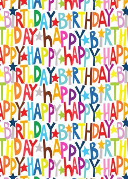 Happy Birthday Wrapping Paper - 2 SHEETS Of LUXURY Gift WRAP - RECYCLABLE Wrapping Paper - Flat WRAP - WRAPPING Paper SHEETS - BIRTHDAY Gift WRAP