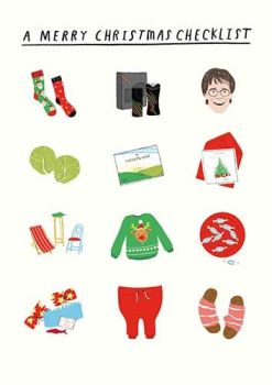 Funny Christmas Cards - RETRO Christmas CARD - A MERRY Christmas CHECKLIST - Sprouts - CLIFF Richard - Funny CHRISTMAS Card For FRIENDS & Family