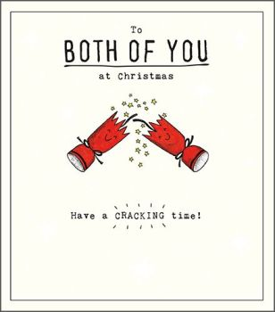 Have A Cracking Time - FUN Christmas CARD For COUPLES - To BOTH Of You AT CHRISTMAS - FUNNY Christmas CRACKER Greeting CARD - Xmas CARDS For COUPLE