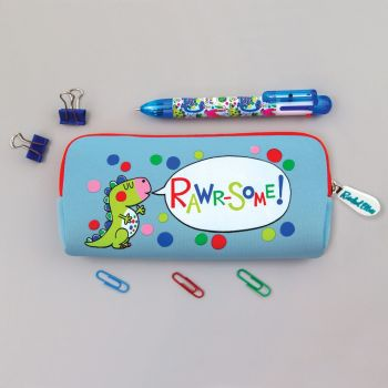Pencil Cases For Boys - RAWR-SOME - Cute DINOSAUR Pencil CASE - SCHOOL Pencil CASES - Washable PENCIL Case - KIDS STATIONERY