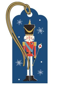 Christmas Gift Tags - NUTCRACKER Soldier GIFT Tag - LUXURY Xmas GIFT Tags - GIFT Tags - GORGEOUS Blue & GOLD Xmas GIFT Tag