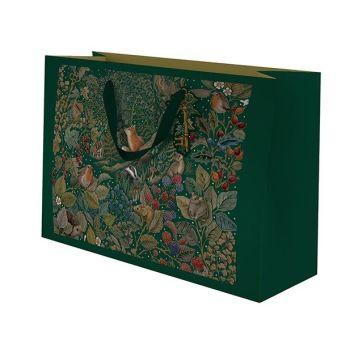 Christmas Gift Bags - Medium LANDSCAPE -  Woodland ANIMALS Gift BAG - MEDIUM Christmas GIFT Bags - BEAUTIFUL Secret GARDEN Gift BAG - GIFT Bags