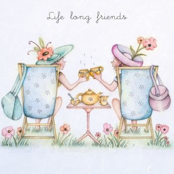 Friendship Birthday Cards - LIFE Long FRIENDS - Birthday CARDS For Friends - BESTIE Birthday CARDS - Friendship BIRTHDAY Card For - Sister - COUSIN
