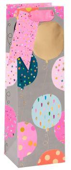 Pink Balloons Bottle Gift Bag - WINE & Bottle GIFT Bags - BOTTLE Gift BAGS - Gift BAG - Gift WINE Bag - PRETTY Bottle BAG For Her - BIRTHDAY Gift BAGS