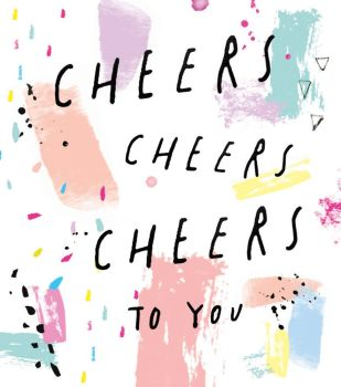 Cheers To You - NOTE CARDS - MINI Note CARDS - PACK Of 6 - MINI Note Cards With ENVELOPES - Mini CARDS & ENVELOPES - Small CARDS For GIFTS