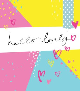 Hello Lovely - NOTE CARDS - MINI Note CARDS - PACK Of 6 - MINI Note Cards With ENVELOPES - Mini CARDS & ENVELOPES - Small CARDS For GIFTS