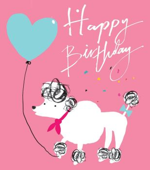 Happy Birthday - NOTE CARDS - POODLE - MINI Note CARDS - PACK Of 6 - MINI Note Cards With ENVELOPES - Mini CARDS & ENVELOPES - Small CARDS For GIFTS