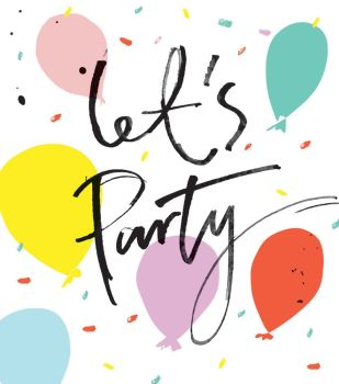 Let's Party - FUN NOTE CARDS - MINI Note CARDS - PACK Of 6 - MINI Note Cards With ENVELOPES - Mini CARDS & ENVELOPES - Small CARDS For GIFTS