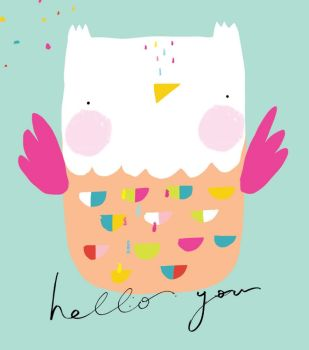 Hello You - FUN Owl NOTE CARDS - MINI Note CARDS - PACK Of 6 - MINI Note Cards With ENVELOPES - Mini CARDS & ENVELOPES - Small CARDS For GIFTS