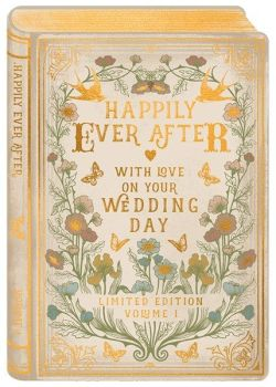 Happily Ever After - WEDDING Cards - BEAUTIFUL Wedding DAY Card For COUPLE - GOLD Foil FAIRY Tale STYLE Wedding DAY CARD