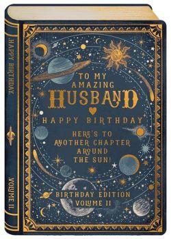Amazing Husband Birthday Card - HERE'S To ANOTHER Chapter - UNIQUE Birthday CARDS - Husband BIRTHDAY Cards - BIRTHDAY Cards For HIM