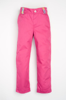 Handmade, Limited Edition - Hot Pink Girls Jeans with Blue Hearts