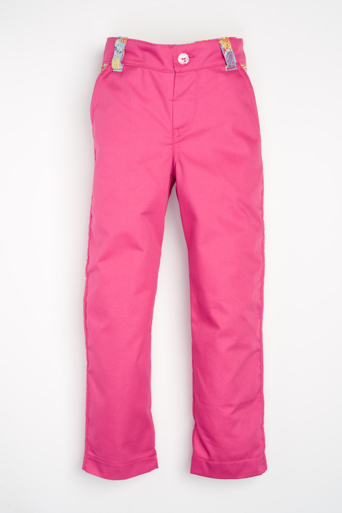 Sea, Sun and Fun Jeans - Hot Pink with Blue Hearts
