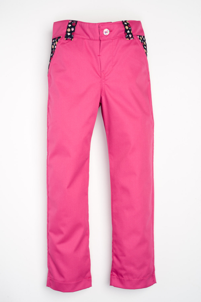 Sea, Sun and Fun Jeans - Hot Pink with Navy Flowers