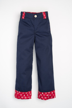 Handmade, Childrens Wide Leg Jean- Nautical Navy