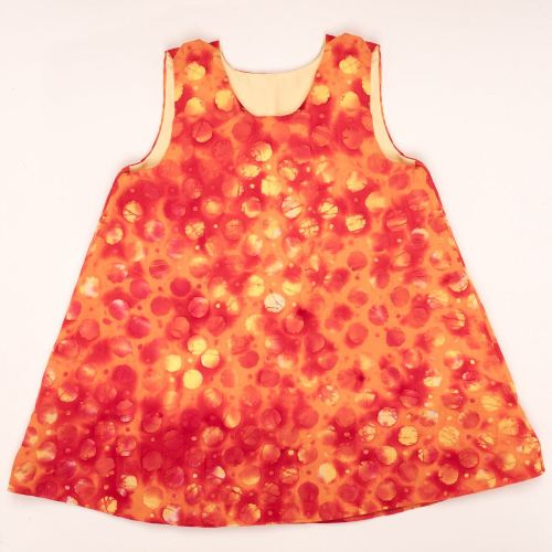 Girls Dress Reversible Orange