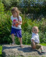 Kids Shorts - Purple with Star Trim
