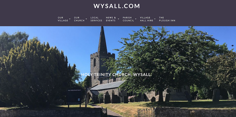Wysall Website