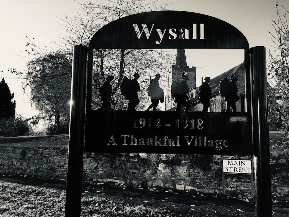 Wysall memorial sign